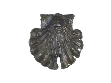 Pilgrim badge from the shrine of St James in Santiago de Compost