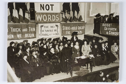 Suffragette leaders at a meeting on Black Friday