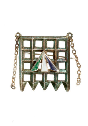 Holloway brooch designed by Sylvia Pankhurst; c 1909