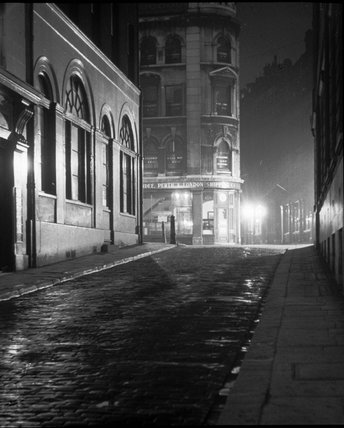 St Dunstan's Hill at night: C.1935