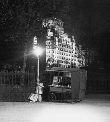 Shell Mex House at night; C.1935