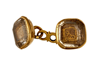 A pair of Post-Medieval cufflinks; 18th century