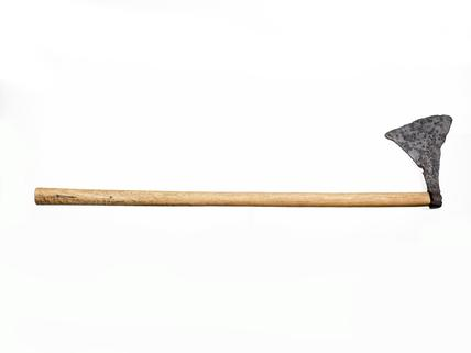 Battleaxe with triangular iron blade: 10th-mid 11th century