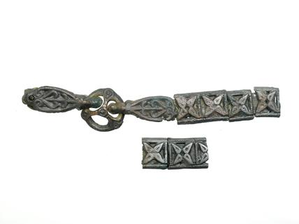 Part of a Viking sword belt: late 10th - early 11th century