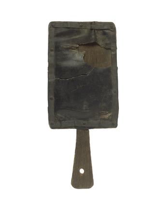 Hornbook in the shape of a small wooden paddle: 16th century