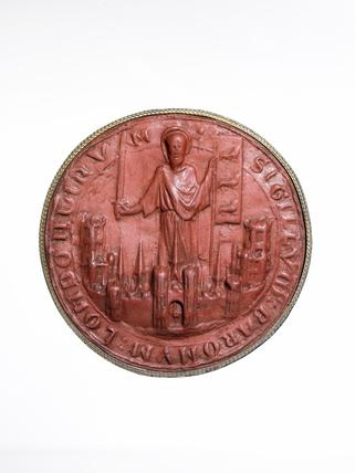 Seal impression of the City's Common Seal showing St Paul: early 13th century