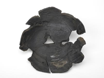 Black wooden bowl: late 13th century