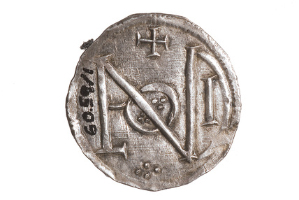 Reverse of a silver penny of King Alfred: c.880