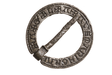 Ring-shaped silver brooch: 14th century