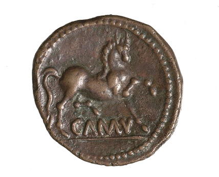 Iron age copper coin