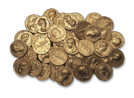Selection of Roman gold coins