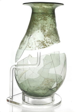 Glass urinal flask: 15th century