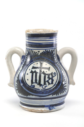 White vase with two handles: c. 1510