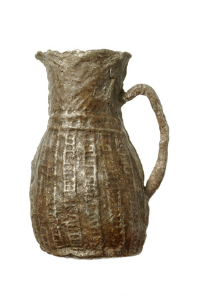 Miniature pewter jug: 15th century