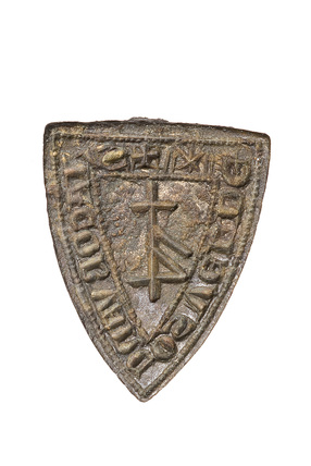 Shield-shaped seal matrix: 14th century