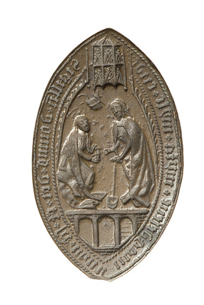 Reverse of a lozenge-shaped seal: 15th-16th century