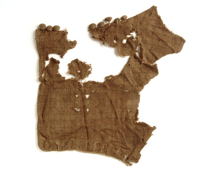 Fragment of woollen sleeve: 14th century