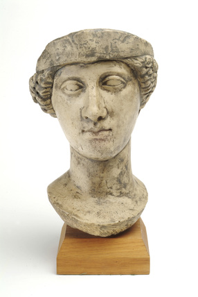 Replica statue head of Minerva: 2nd century