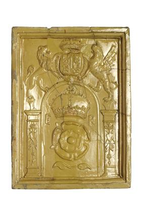 Stove Tile Of Yellow Lead Glazed Earthenware 16th Century At Museum