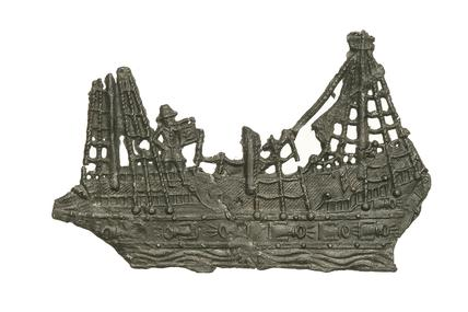 Lead alloy toy ship: 16th century