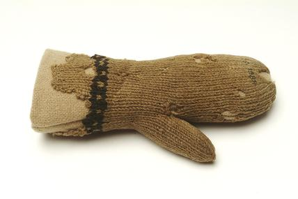 Small knitted woollen mitten: 16th century