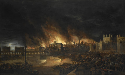 The Great Fire of London (1666):c. 1675