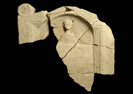Roman tombstone of a young girl called Marciana