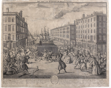 The View and Humours of Billingsgate:1736