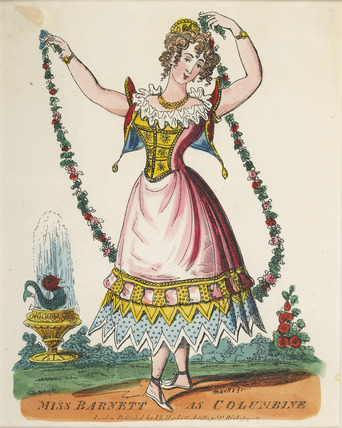 Miss Barnett as Columbine: 19th century