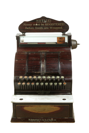 Woolworth's store cash register: 20th century