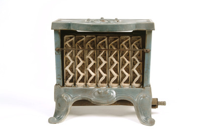 Small portable gas fire: 20th century