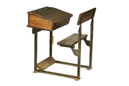 Wooden school desk: 20th century