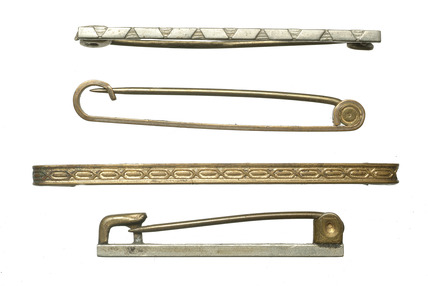 Four metal tie-pins: 20th century
