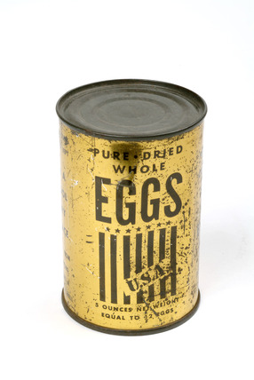 Tin of dried eggs: 20th century