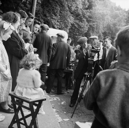 Street portrait photographer at Hampstead Heath: 20th century