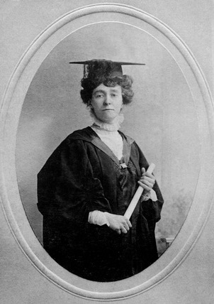 Photographic portrait of Miss E.W. Davison: 1913