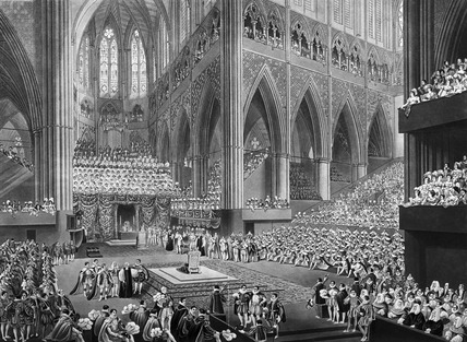 The Coronation of His Majesty, George the Fourth; taken at the time of the recogition, July 19th 1821