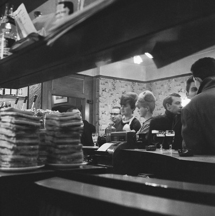 Italian bar in Soho: 1961