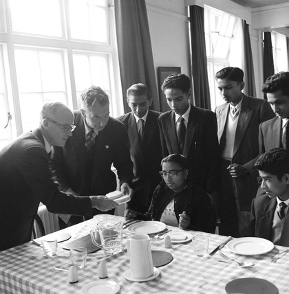 International students at a college in Deptford: 1957