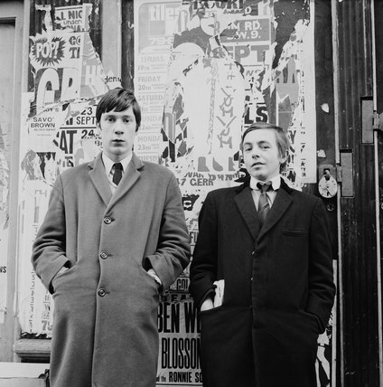 Two young men in Carnaby Street: 1967