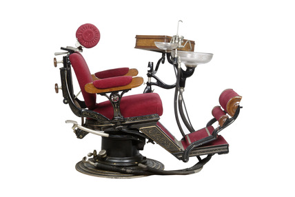 Upholstered dentist's chair: 20th century