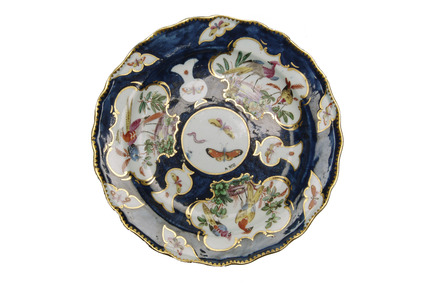 Worcester style plate: 18th century