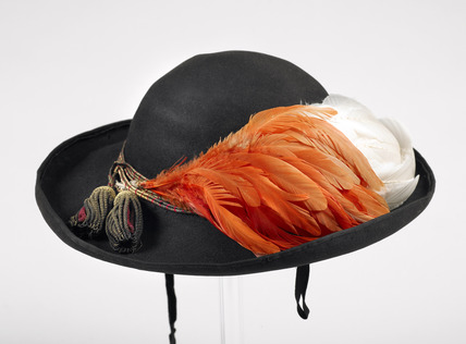 Woman's military hat worn by Queen Victoria: c. 1856 - 1859