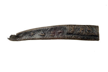 Medieval leather scabbard