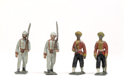 Selection of toy soldiers: c.1890