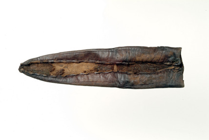 Scabbard of calf leather: early 13th-mid 13th century