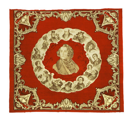 The Pickwickians, commemorative handkerchief: c.1839
