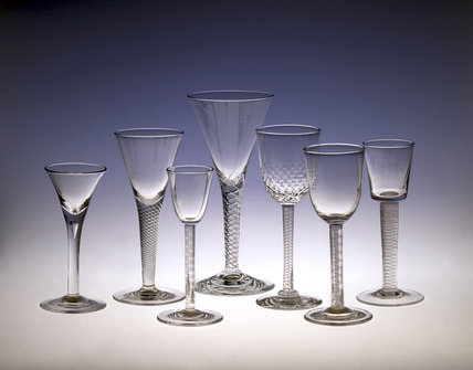 Selection of Whitefriars table glasses: 19th century