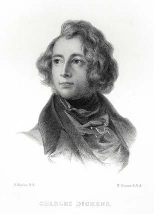 Portrait of Charles Dickens: 19th century