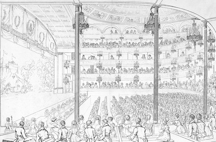 Interior of Covent Garden theatre: 1800